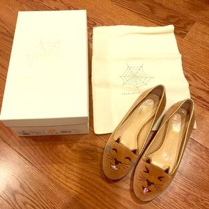 Charlotte Olympia LOL Kitty Flats- Authentic 💯